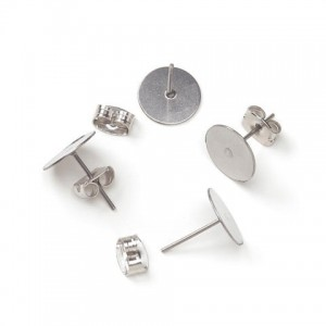 Surgical-Steel-Flat-Pad-Post-Earrings-with-Butterfly-Clutch-6mm-48Pkg